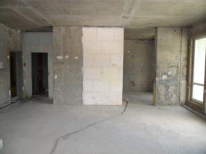 Зал без отделки