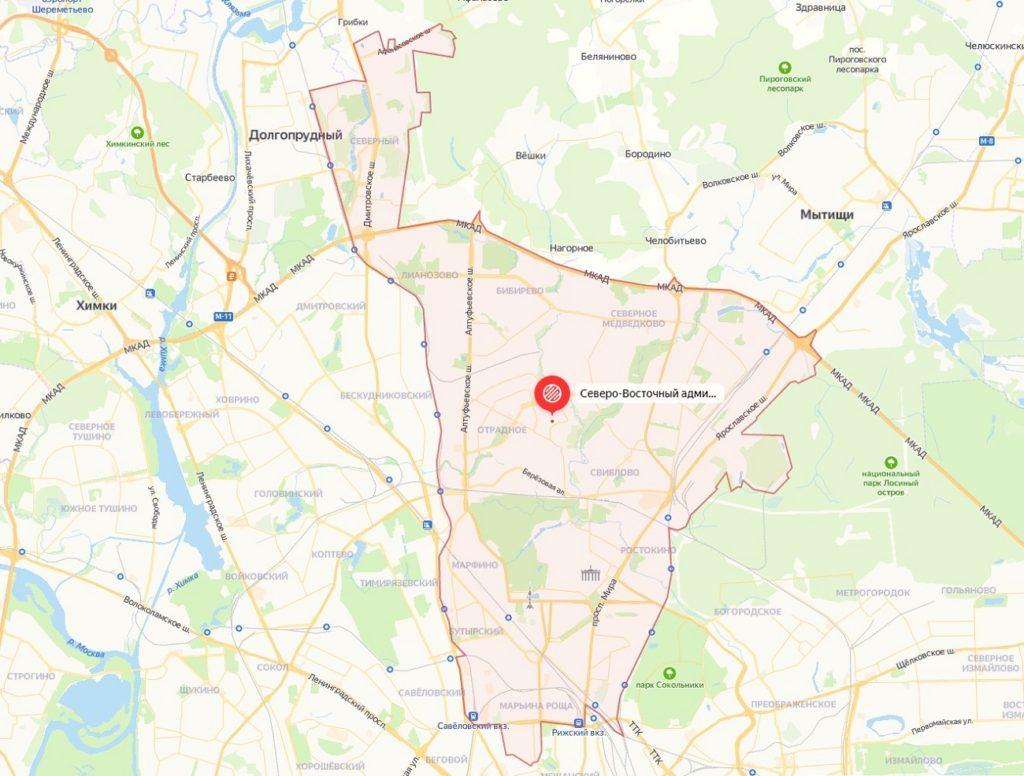 Открыть подробную карту СВАО