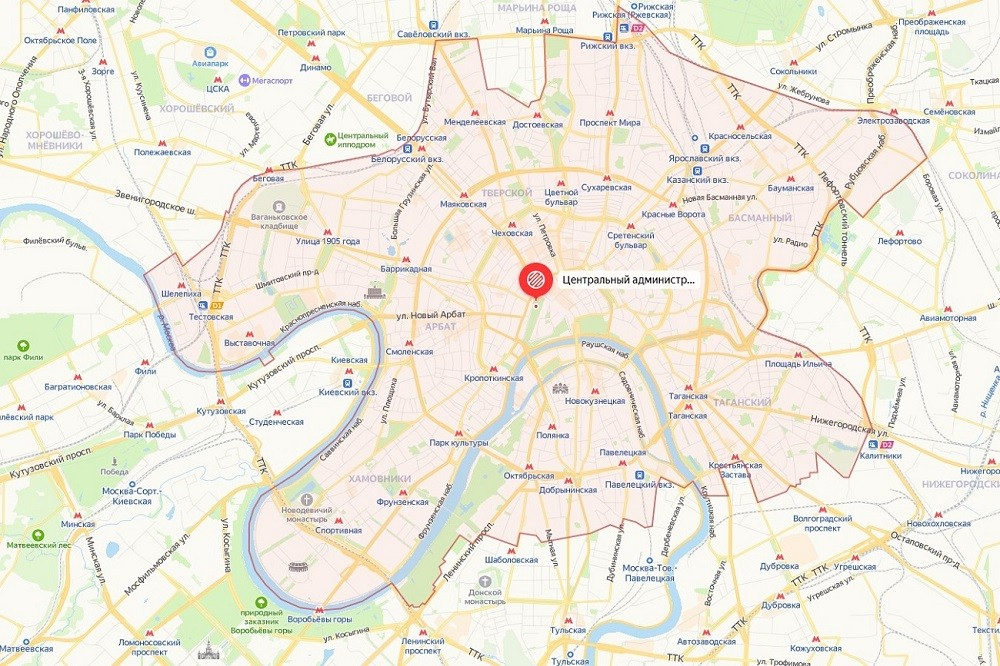 Открыть подробную карту ЦАО