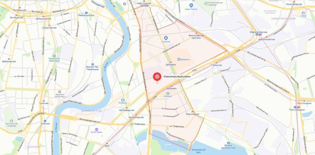rajon juzhnoportovyj 1024x504 - Южнопортовый район в ЮВАО: описание, недвижимость, недостатки и достоинства.